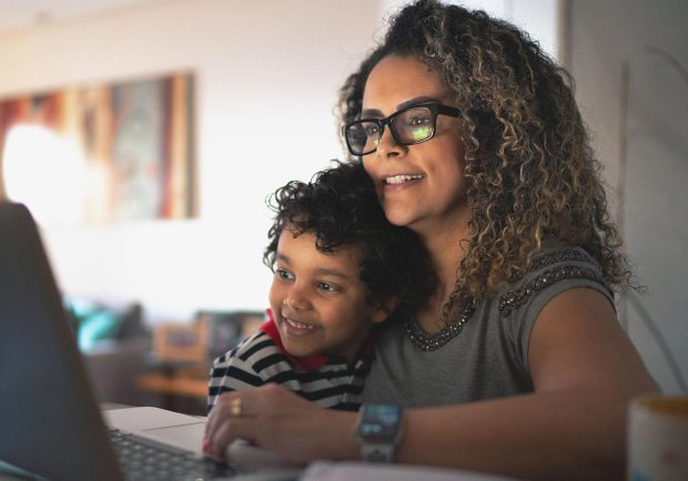 Mother and son finding care online – Kettering Health
