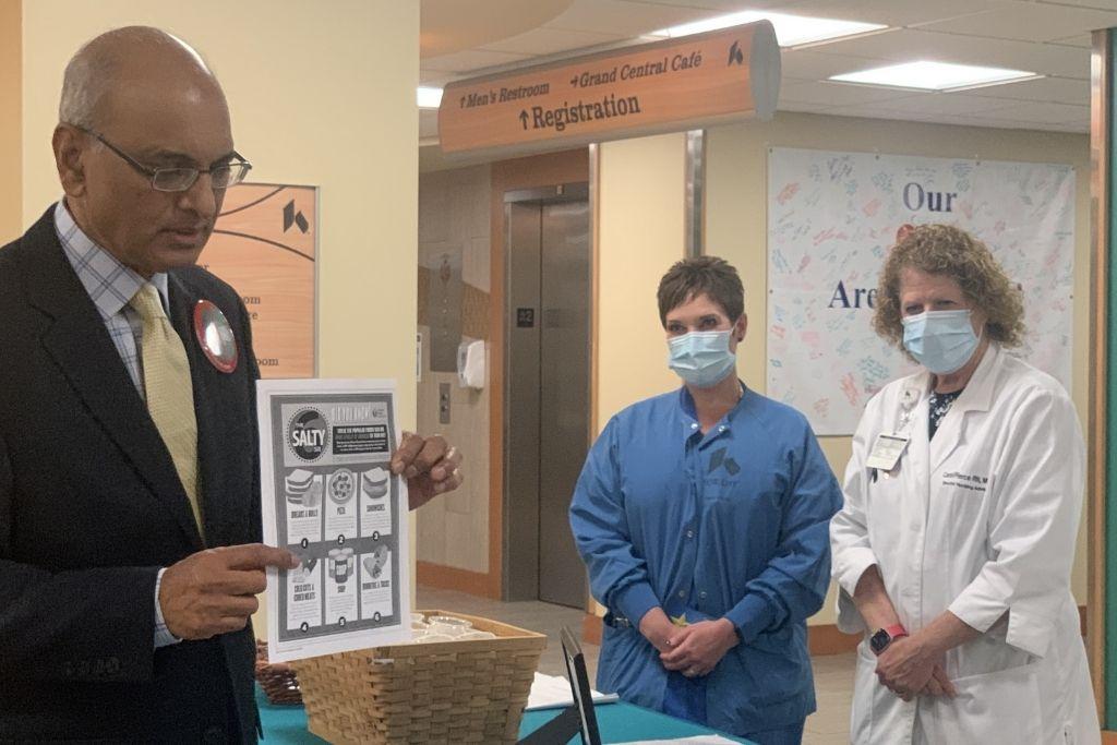 Dr. Neravetla presenting to Kettering Health Dayton staff