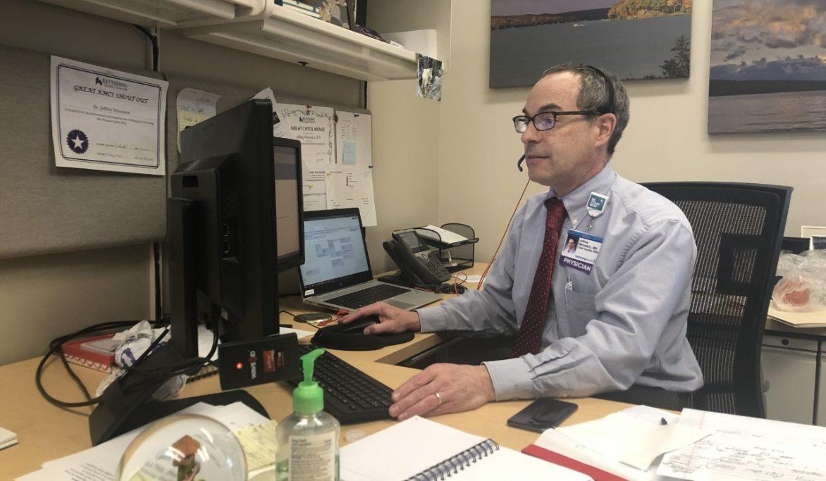 Dr. Jeffrey Weinstein at his desk