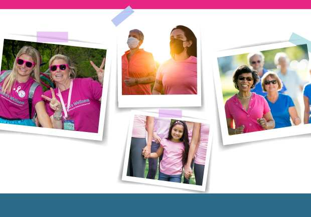 Several pictures from previous walk for women's wellness events